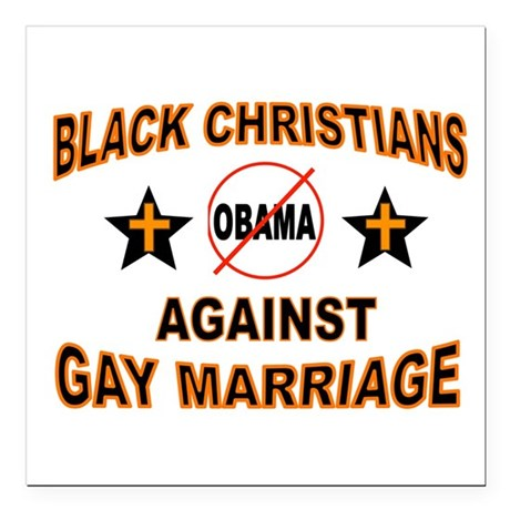 "BLACK CHRISTIANS Square Car Magnet 3"" x 3"""