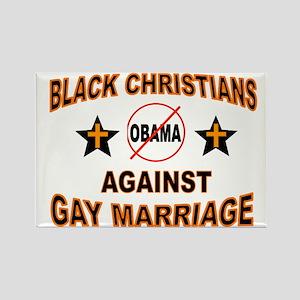 BLACK CHRISTIANS Rectangle Magnet