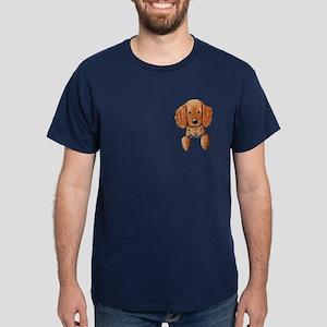 Pocket Irish Setter Pup Dark T-Shirt