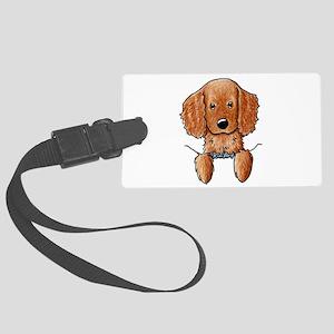 Pocket Irish Setter Pup Large Luggage Tag