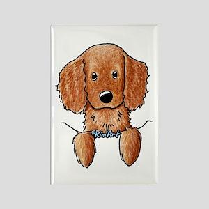 Pocket Irish Setter Pup Rectangle Magnet