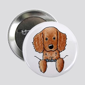 "Pocket Irish Setter Pup 2.25"" Button"