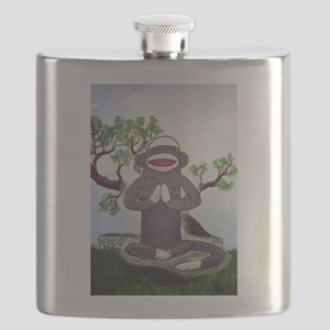 Sock Monkey Nirvana Flask