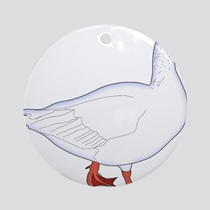 White Goose Ornament (Round)