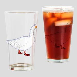 White Goose Drinking Glass