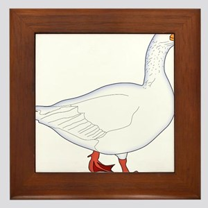 White Goose Framed Tile