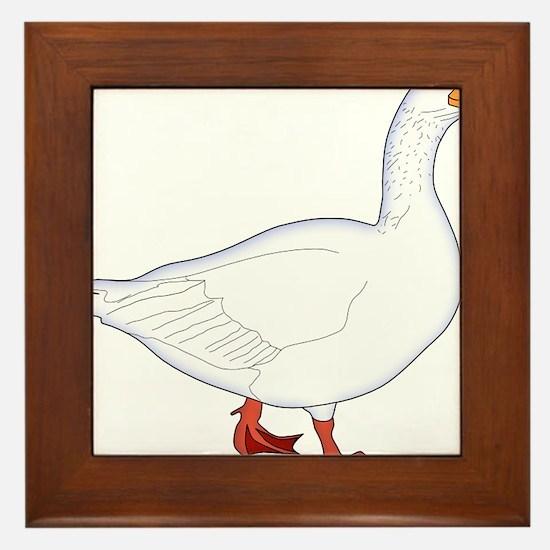 White Goose Framed Tile