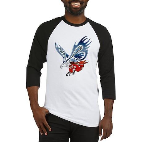 Metallic Grunge Eagle Tattoo Baseball Jersey