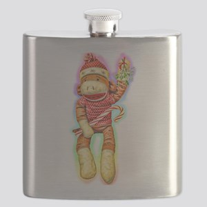 Glowing Christmas SockMonkey Flask
