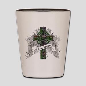 Davidson Tartan Cross Shot Glass
