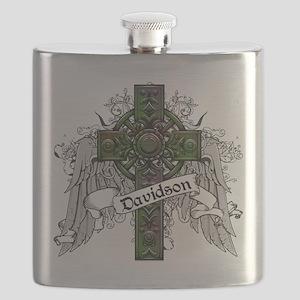 Davidson Tartan Cross Flask