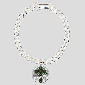 Davidson Tartan Cross Charm Bracelet, One Charm