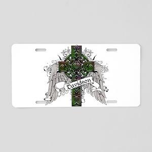 Davidson Tartan Cross Aluminum License Plate