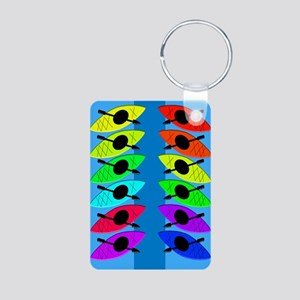 kayaking ff 6 Aluminum Photo Keychain