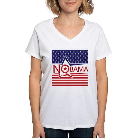 Just Say Nobama! Women's V-Neck T-Shirt