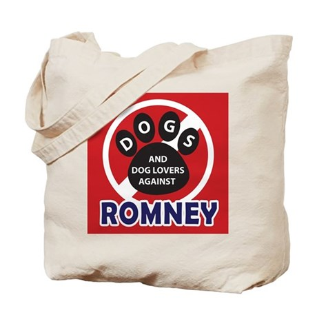 Dogs hate Romney! Tote Bag