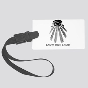 Know Your Enemy 1 Large Luggage Tag