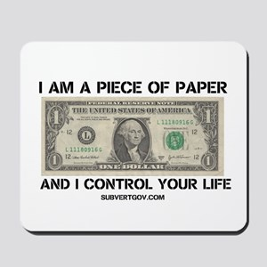 I Am a Piece of Paper Mousepad