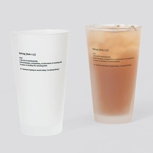 Definition of fishing Drinking Glass