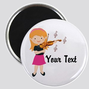 Personalized Violin Girl Magnet
