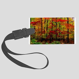 Autumn Leaves Large Luggage Tag