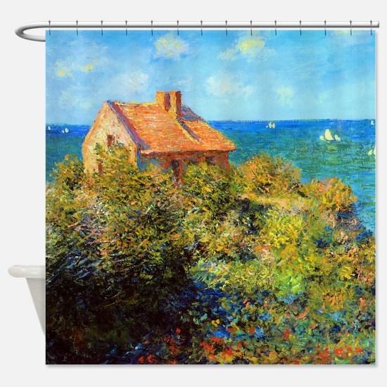 Claude Monet Fisherman's Cottage Shower Curtain
