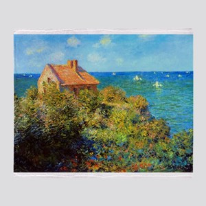 Claude Monet Fisherman's Cottage Throw Blanket