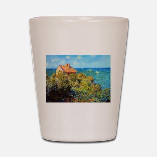 Claude Monet Fisherman's Cottage Shot Glass