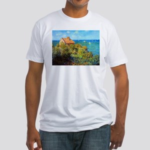 Claude Monet Fisherman's Cottage Fitted T-Shirt