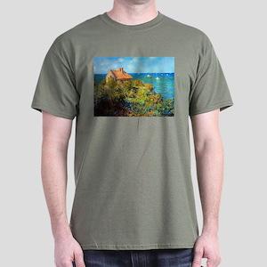 Claude Monet Fisherman's Cottage Dark T-Shirt
