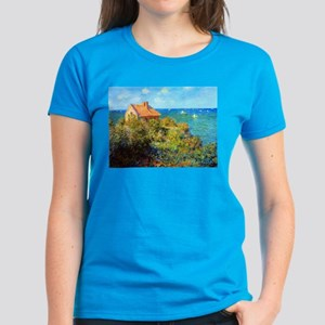 Claude Monet Fisherman's Cottage Women's Dark T-Sh