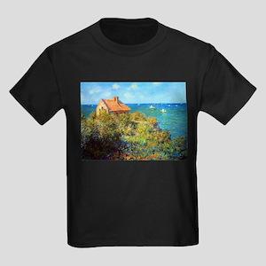 Claude Monet Fisherman's Cottage Kids Dark T-Shirt