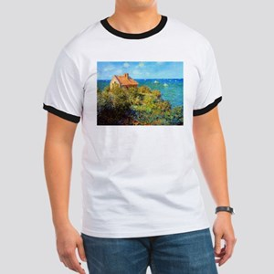 Claude Monet Fisherman's Cottage Ringer T