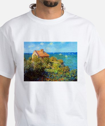 Claude Monet Fisherman's Cottage White T-Shirt