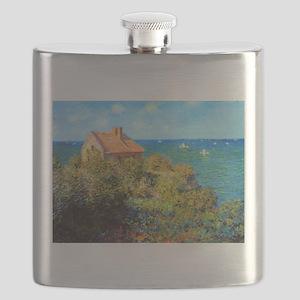 Claude Monet Fisherman's Cottage Flask
