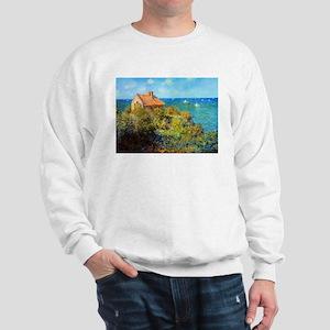 Claude Monet Fisherman's Cottage Sweatshirt