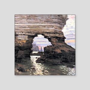 """Claude Monet La porte Amont Square Sticker 3"""" x 3"""""""