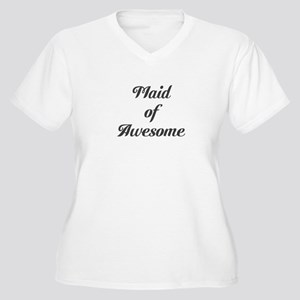 Maid of Awesome Women's Plus Size V-Neck T-Shirt