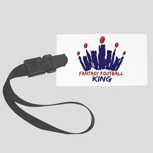 Fantasy Football King Large Luggage Tag
