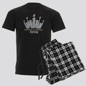 Fantasy Football King Men's Dark Pajamas
