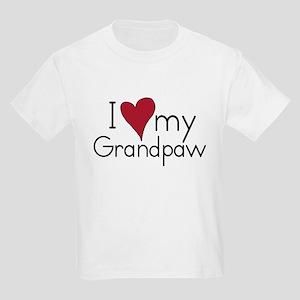 I Love my Grandpaw Kids T-Shirt