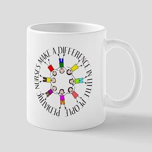 pediatric nurses circle WITH KIDS Mug