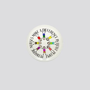pediatric nurses circle WITH KIDS Mini Button