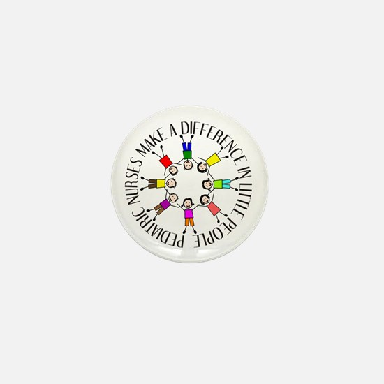 pediatric nurses circle WITH KIDS.PNG Mini Button