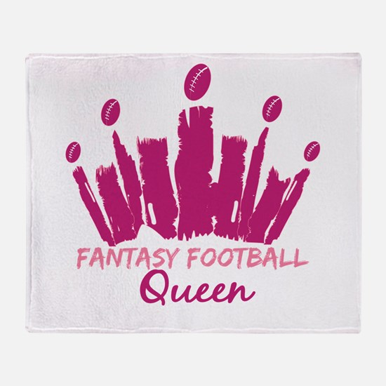 Fantasy Football Queen Throw Blanket
