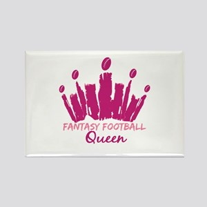Fantasy Football Queen Rectangle Magnet