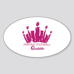 Fantasy Football Queen Sticker (Oval)