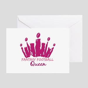 Fantasy Football Queen Greeting Card