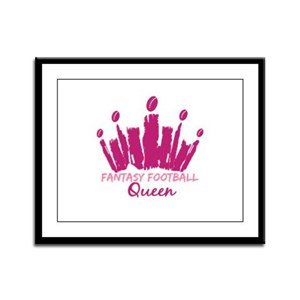 Fantasy Football Queen Framed Panel Print