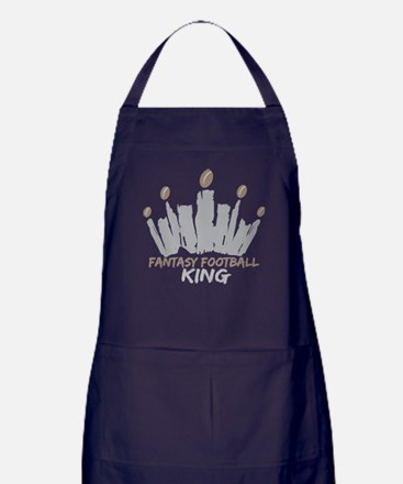 Fantasy Football King Apron (dark)